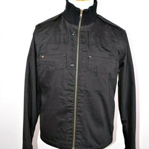 Alpha Industries Black Moto Zip Jacket Size M